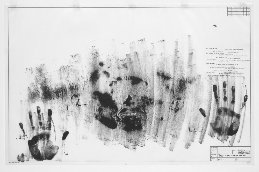 Jasper Johns: Skin with O'Hara Poem (1965). New York, Museum of Modern Art (MoMA). Lithograph. 55.9 x 86.4 cm. Publisher and printer: Universal Limited Art Editions, West Islip, NY. Edition: 30. Gift of the Celeste and Armand Bartos Foundation. Digital image, The Museum of Modern Art, New York / Scala, Florence. © Jasper Johns / VAGA, New York / DACS, London, 2018