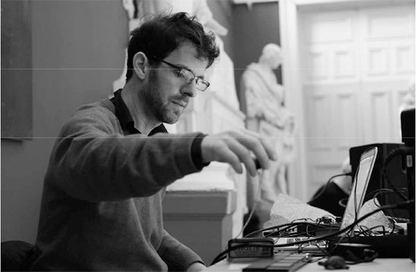 Stephen Vitiello performing at Strange Attractor 3 (Crawford Art Gallery, 15 January 2011). Photograph by Patricia Klich.
