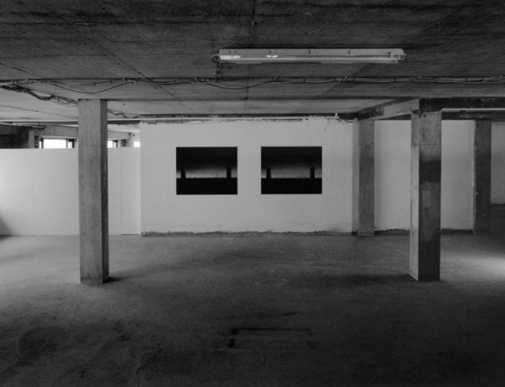 Roseanne Lynch, Show 3, 2012. 2 vinyl prints, both 130cm x 165 cm. Courtesy of the artist, Stag & Deer, and nag gallery, Dublin. Installation view from Show. Photography by Jed Niezgoda