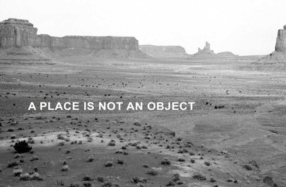 Andrea Geyer: Spiral Lands, A place is not an Object, 2012. Billboard. Image courtesy of C.C.A Derry-Londonderry.