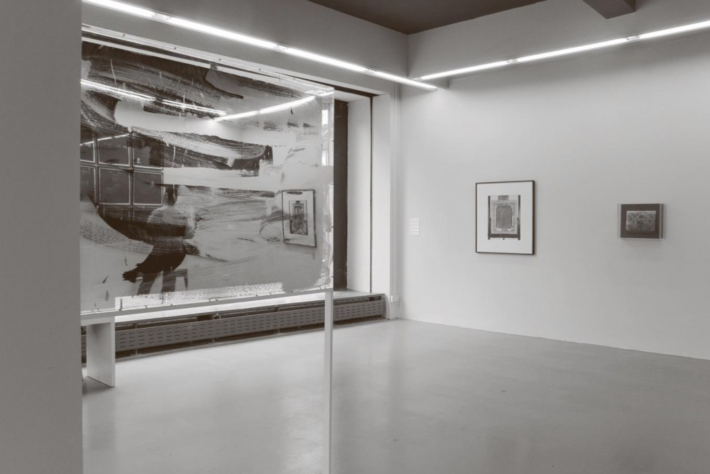 Starting Over, installation shot. From left to right: Scott Myles: The Lecture (2010-2013); Gerard Byrne: An allegory of the transfer of the Imperial Gallery to the Belvedere (2013); Alan Brooks: Crack-ed (2006-7). Scott Myles, courtesy of the artist and The Modern Institute/Toby Webster Ltd, Glasgow. Gerard Byrne, courtesy of the artist, Lisson Gallery, London and Green on Red Gallery, Dublin. Alan Brooks, courtesy of the artist and MOT International, London.